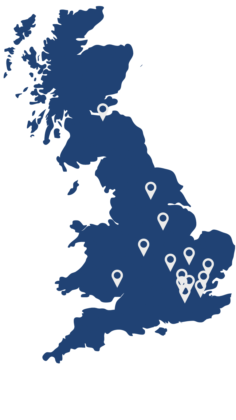 IOSH Location Map - Map of Project Skills Soliutions' IOSH locations